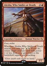 Alesha, Who Smiles at Death, Magic: The Gathering, Mystery Booster Cards