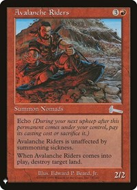 Avalanche Riders, Magic: The Gathering, Mystery Booster Cards