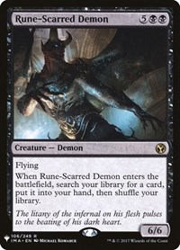 Rune-Scarred Demon, Magic: The Gathering, Mystery Booster Cards