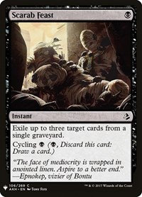 Scarab Feast, Magic: The Gathering, Mystery Booster Cards