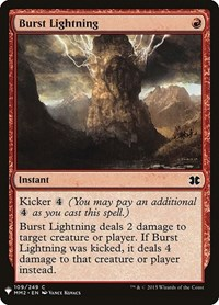 Burst Lightning (MM2), Magic: The Gathering, Mystery Booster Cards
