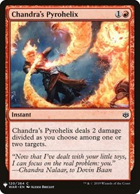 Chandra's Pyrohelix, Magic, Mystery Booster Cards