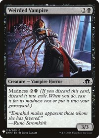 Weirded Vampire, Magic: The Gathering, Mystery Booster Cards