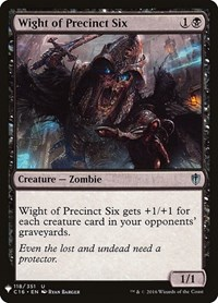 Wight of Precinct Six, Magic: The Gathering, Mystery Booster Cards