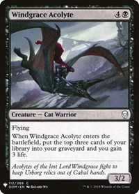 Windgrace Acolyte, Magic: The Gathering, Mystery Booster Cards