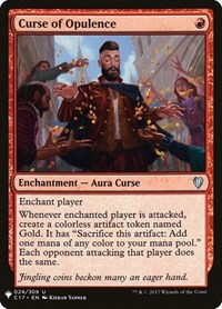 Curse of Opulence, Magic: The Gathering, Mystery Booster Cards