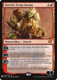 Daretti, Scrap Savant, Magic: The Gathering, Mystery Booster Cards