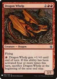 Dragon Whelp, Magic: The Gathering, Mystery Booster Cards