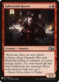Falkenrath Reaver, Magic: The Gathering, Mystery Booster Cards