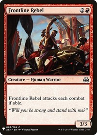 Frontline Rebel, Magic: The Gathering, Mystery Booster Cards