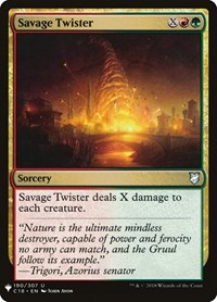 Savage Twister, Magic: The Gathering, Mystery Booster Cards
