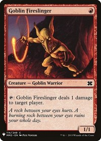 Goblin Fireslinger, Magic: The Gathering, Mystery Booster Cards