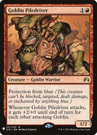 Goblin Piledriver, Magic: The Gathering, Mystery Booster Cards