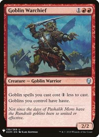 Goblin Warchief, Magic: The Gathering, Mystery Booster Cards