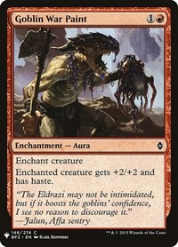 Goblin War Paint, Magic: The Gathering, Mystery Booster Cards