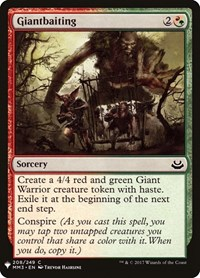 Giantbaiting, Magic: The Gathering, Mystery Booster Cards