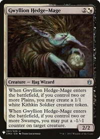 Gwyllion Hedge-Mage, Magic: The Gathering, Mystery Booster Cards