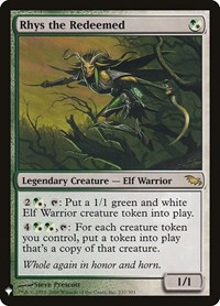 Rhys the Redeemed, Magic: The Gathering, Mystery Booster Cards