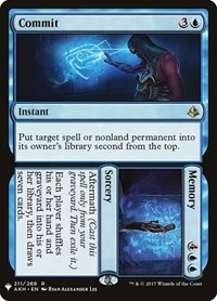 Commit // Memory, Magic: The Gathering, Mystery Booster Cards