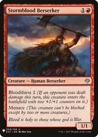 Stormblood Berserker, Magic: The Gathering, Mystery Booster Cards