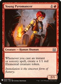 Young Pyromancer, Magic, Mystery Booster Cards