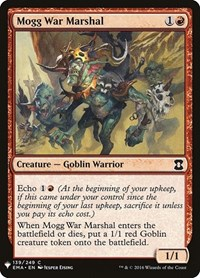 Mogg War Marshal, Magic, Mystery Booster Cards