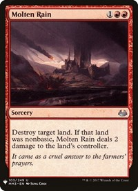 Molten Rain, Magic: The Gathering, Mystery Booster Cards