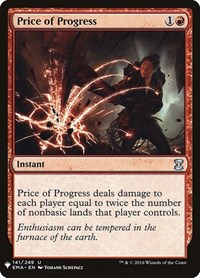 Price of Progress, Magic: The Gathering, Mystery Booster Cards