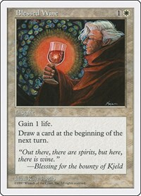 Blessed Wine, Magic: The Gathering, Fifth Edition