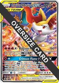 Charizard & Braixen GX - SM230 (SM Black Star Promo), Pokemon, Jumbo Cards
