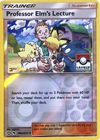 Professor Elm's Lecture - 188a/214 (League Promo) [3rd Place], Pokemon, League & Championship Cards