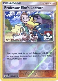 Professor Elm's Lecture - 188a/214 (League Promo) [4th Place], Pokemon, League & Championship Cards