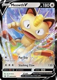 Meowth V - SWSH004, Pokemon, SWSH: Sword & Shield Promo Cards