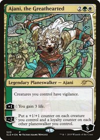 Ajani, the Greathearted (Stained Glass), Magic: The Gathering, Secret Lair Drop Series