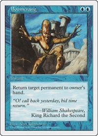 Boomerang, Magic, Fifth Edition