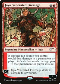 Jaya, Venerated Firemage (Stained Glass), Magic: The Gathering, Secret Lair Drop Series