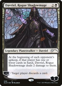 Davriel, Rogue Shadowmage (Stained Glass), Magic: The Gathering, Secret Lair Drop Series
