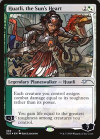 Huatli, the Sun's Heart (Stained Glass), Magic: The Gathering, Secret Lair Drop Series