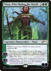 Nissa, Who Shakes the World (Stained Glass) (Foil)
