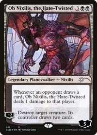 Ob Nixilis, the Hate-Twisted (Stained Glass), Magic: The Gathering, Secret Lair Drop Series