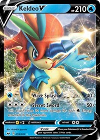 Keldeo V, Pokemon, SWSH01: Sword & Shield Base Set