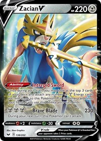 Zacian V, Pokemon, SWSH01: Sword & Shield Base Set