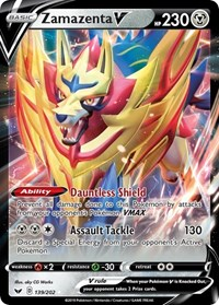 Zamazenta V, Pokemon, SWSH01: Sword & Shield Base Set