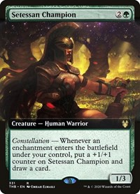 Setessan Champion (Extended Art), Magic: The Gathering, Theros Beyond Death