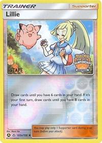 Lillie - 215a/156 (Regional Promo) [Staff], Pokemon, League & Championship Cards