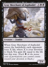 Gray Merchant of Asphodel, Magic: The Gathering, Theros Beyond Death