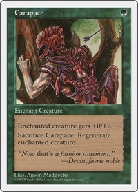 Carapace, Magic: The Gathering, Fifth Edition