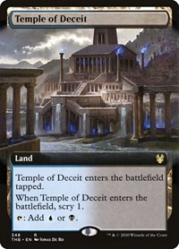 Temple of Deceit (Extended Art), Magic: The Gathering, Theros Beyond Death