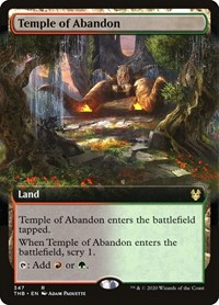 Temple of Abandon (Extended Art), Magic: The Gathering, Theros Beyond Death