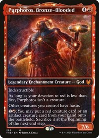 Purphoros, Bronze-Blooded (Showcase), Magic: The Gathering, Theros Beyond Death